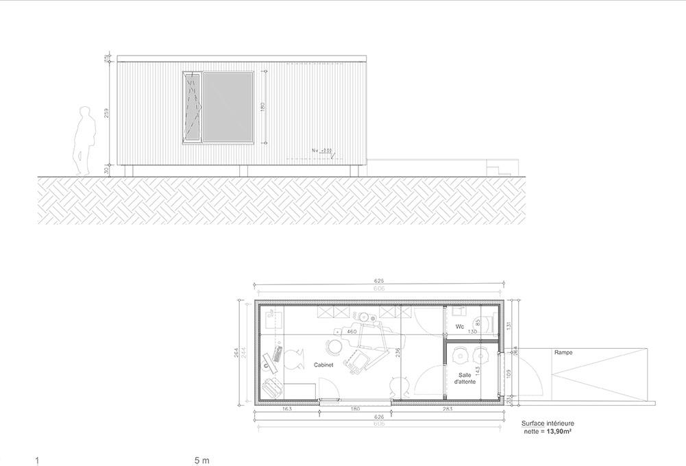 Continentis espace modulaire cabinet médical plan