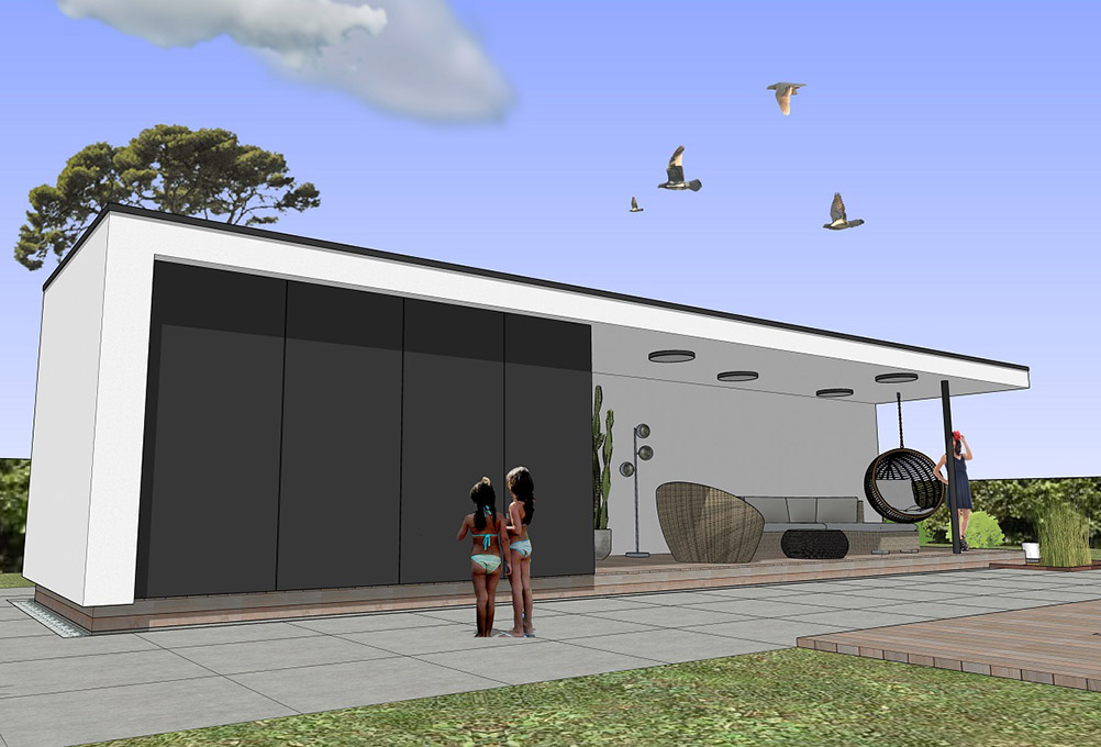 Continentis espace modulaire pool house